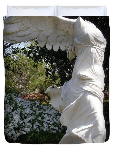 Winged Victory Nike Duvet Cover by Caryl J Bohn