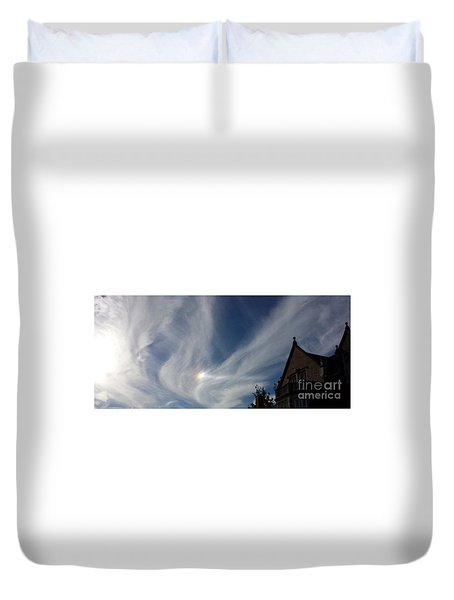 Duvet Cover featuring the photograph Angel Wings by Becky Lupe