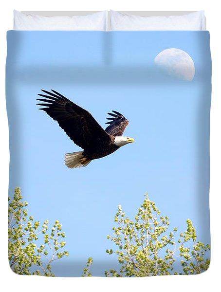 Wings Of The Moon Duvet Cover by Lori Tordsen