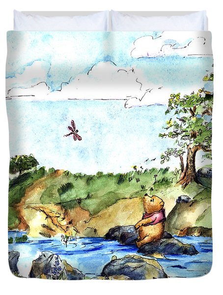 Imagining The Hunny  After E  H Shepard Duvet Cover