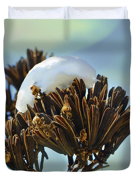 Winter Agave Bloom Duvet Cover