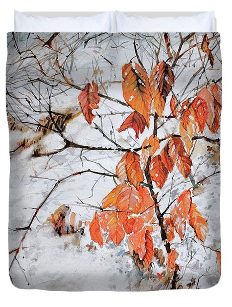 Winter Ash Duvet Cover by P Anthony Visco