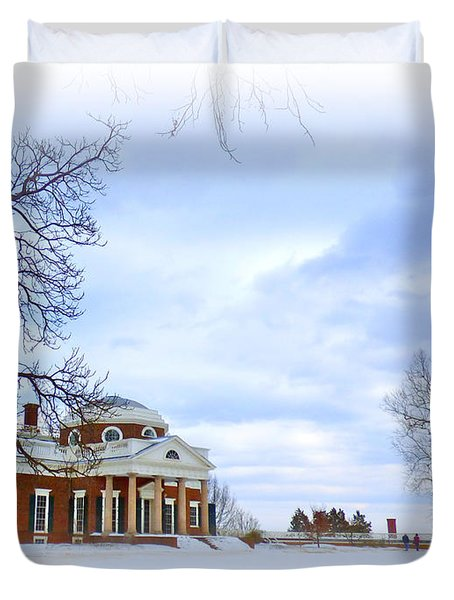 Winter At Monticello Duvet Cover