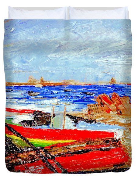 Winter At Provincetown Duvet Cover
