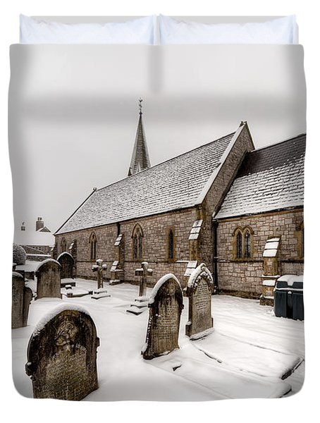 Winter At St Paul Duvet Cover by Adrian Evans