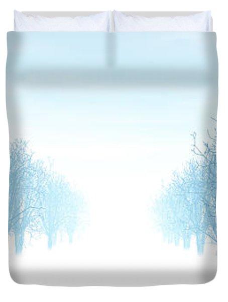 Winter Avenue Duvet Cover by Nicholas Burningham