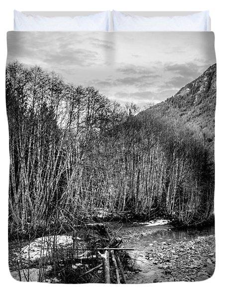 Winter Backroads Englishman River Duvet Cover