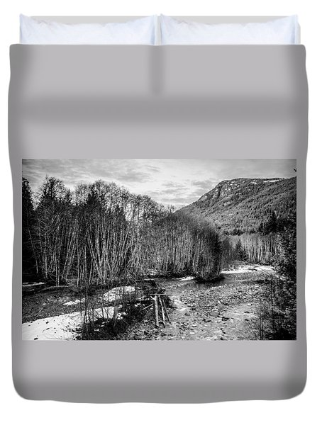 Winter Backroads Englishman River Duvet Cover