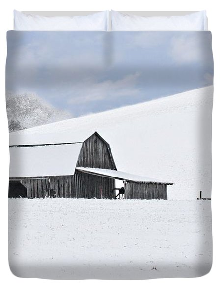 Winter Barn Duvet Cover by Benanne Stiens