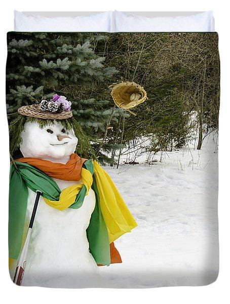Winter Baseball Ball Gown  Duvet Cover by LeeAnn McLaneGoetz McLaneGoetzStudioLLCcom