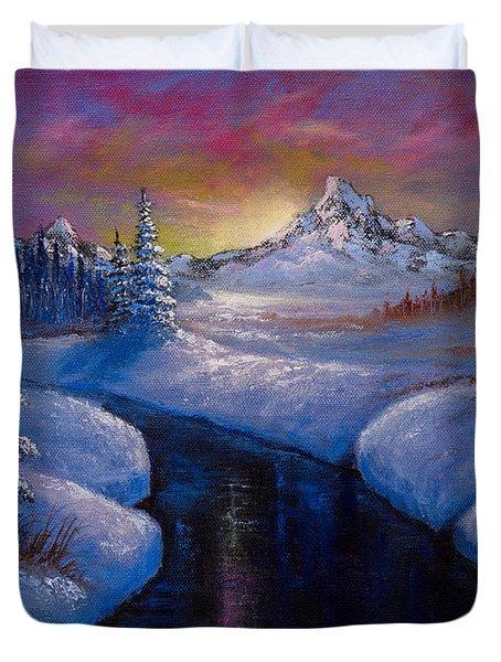 Winter Beauty Duvet Cover by C Steele