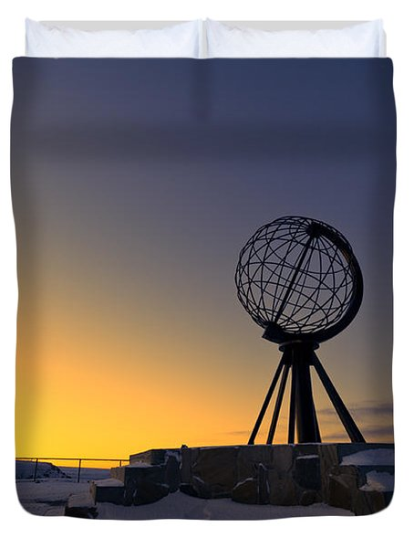 Winter Beyond The Arctic Circle Duvet Cover by Ulrich Schade