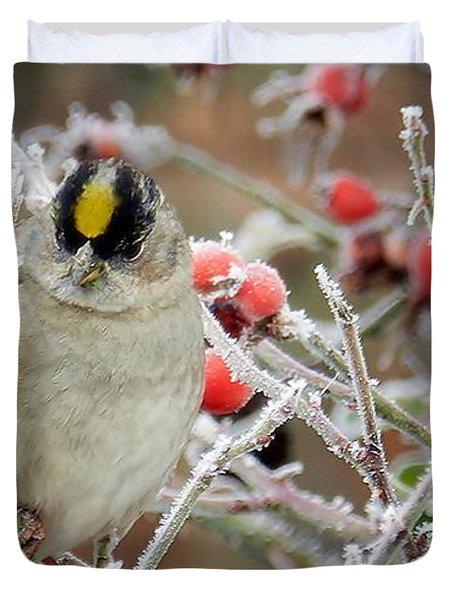 Duvet Cover featuring the photograph Winter Birds by Julia Hassett