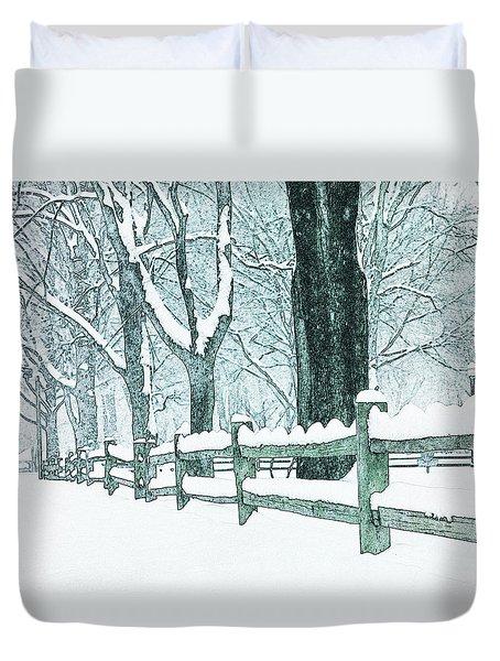 Winter Blues Duvet Cover by John Stephens