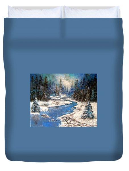 One Little Blue Duvet Cover