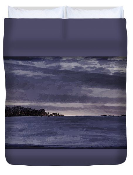 Winter Blues Duvet Cover by Thomas Young