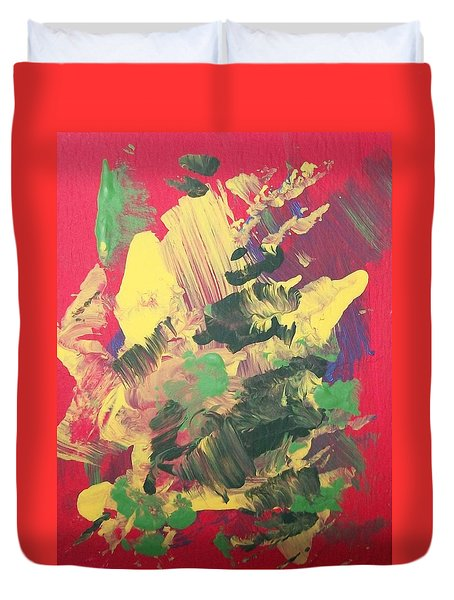 Duvet Cover featuring the painting Winter Bouquet by Sharon Duguay