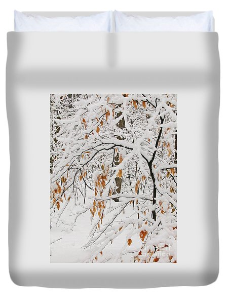 Duvet Cover featuring the photograph Winter Branches by Ann Horn