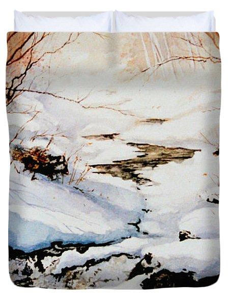 Winter Break Duvet Cover by Hanne Lore Koehler