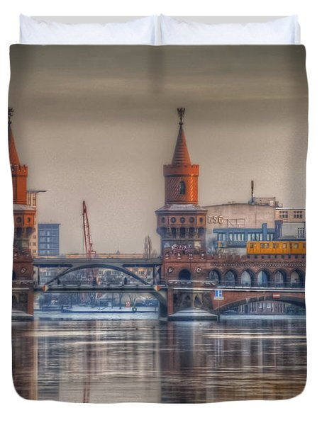 Winter Bridge Duvet Cover by Nathan Wright