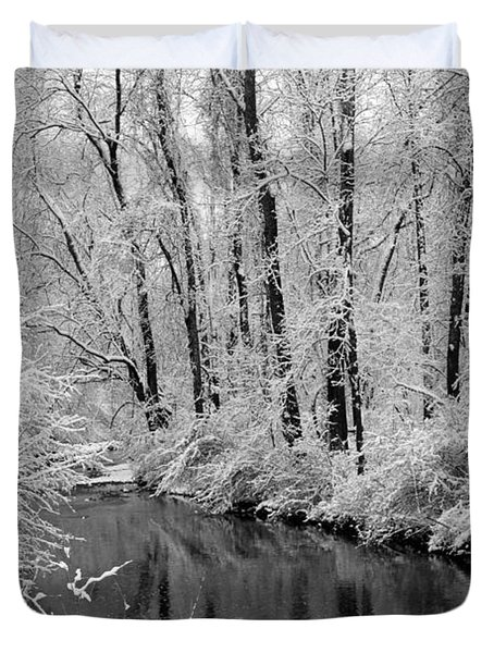Winter By Crum Creek Duvet Cover