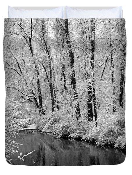 Winter By Crum Creek Duvet Cover by Deborah  Crew-Johnson