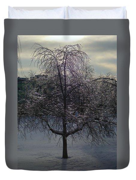 Winter Candelabrum Duvet Cover