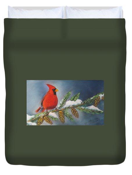Winter Cardinal 2 Duvet Cover
