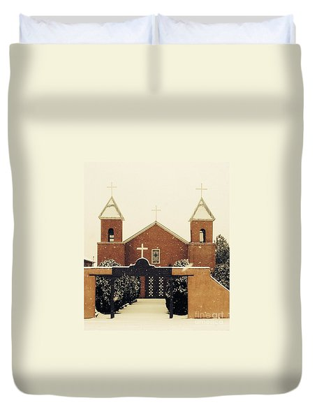 Winter Church Duvet Cover