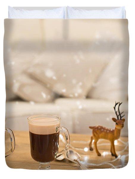 Winter Coffee Duvet Cover