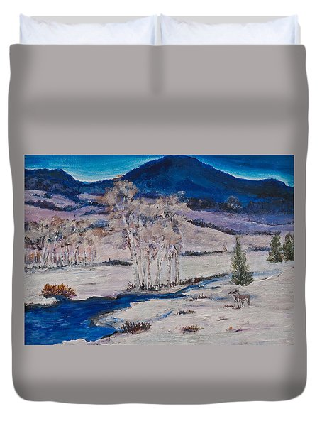 Winter Dawn Duvet Cover