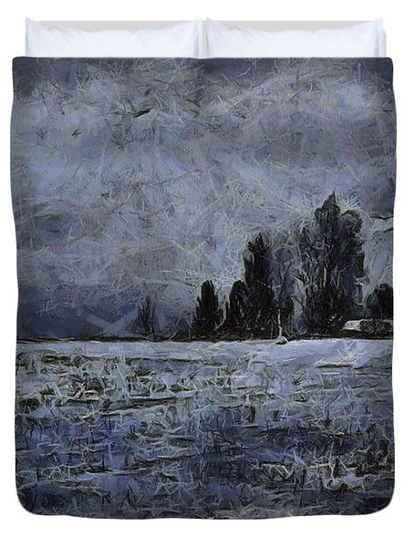 Winter Day Duvet Cover by Dan Sproul