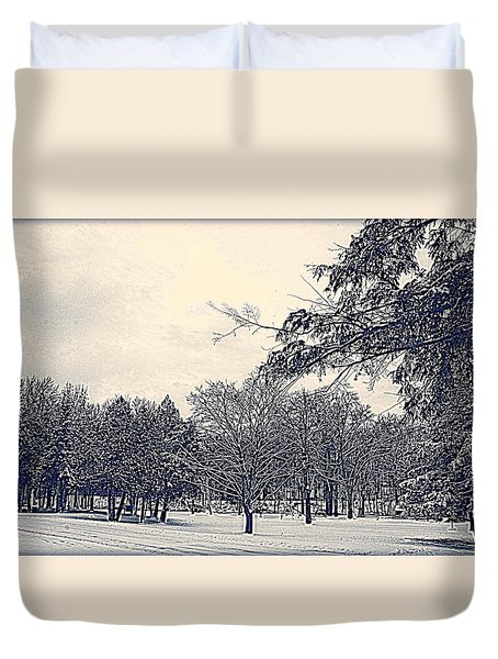 Winter Days Duvet Cover by Kay Novy