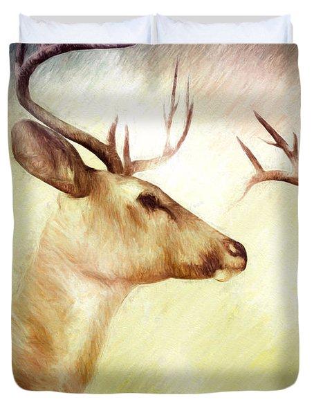 Winter Deer Duvet Cover by Bob Orsillo