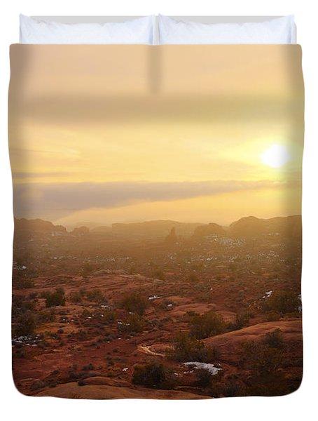 Winter Desert Glow Duvet Cover