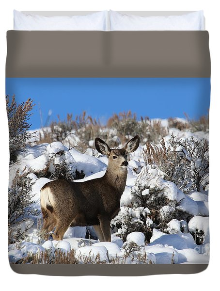 Winter Doe Duvet Cover
