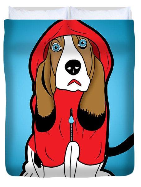 Winter Dog  Duvet Cover by Mark Ashkenazi