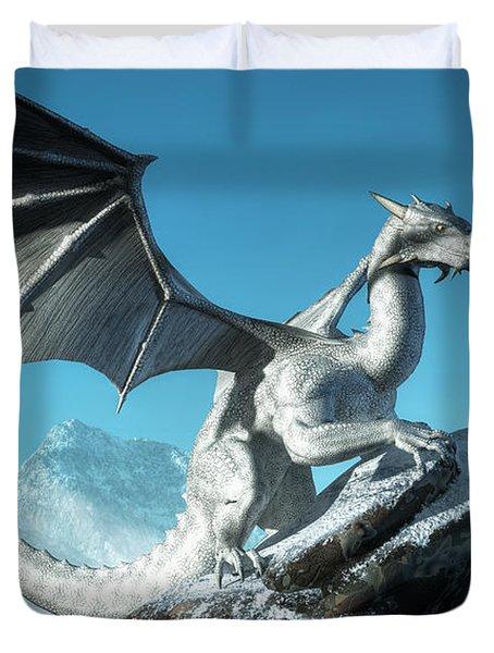 Winter Dragon Duvet Cover