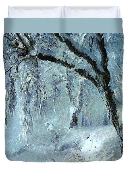 Winter Dreams Duvet Cover by Dragica  Micki Fortuna
