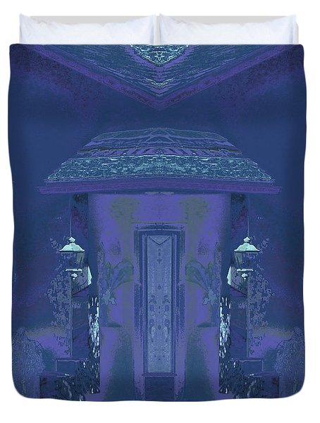 Duvet Cover featuring the photograph Winter Dusk Homecoming by Don and Judi Hall