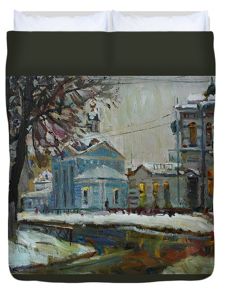 Winter Evening Duvet Cover
