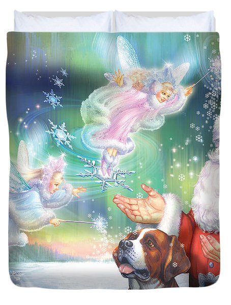 Winter Fairies Duvet Cover