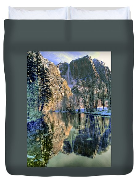Winter Falls Duvet Cover by Bill Gallagher