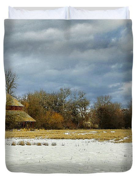 Winter Farm Duvet Cover by Steve McKinzie