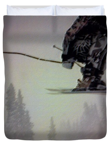 Winter Flight Duvet Cover by George Pedro