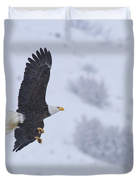 Winter Flight Duvet Cover by Mike  Dawson