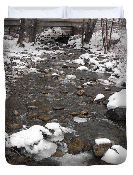 Winter Flow Duvet Cover