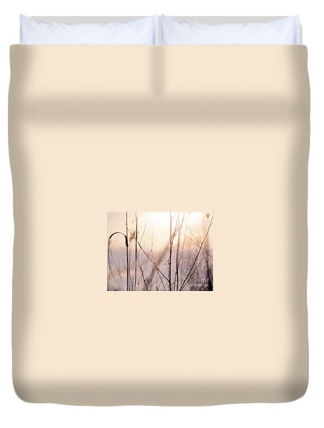 Duvet Cover featuring the photograph Winter Flox by France Laliberte