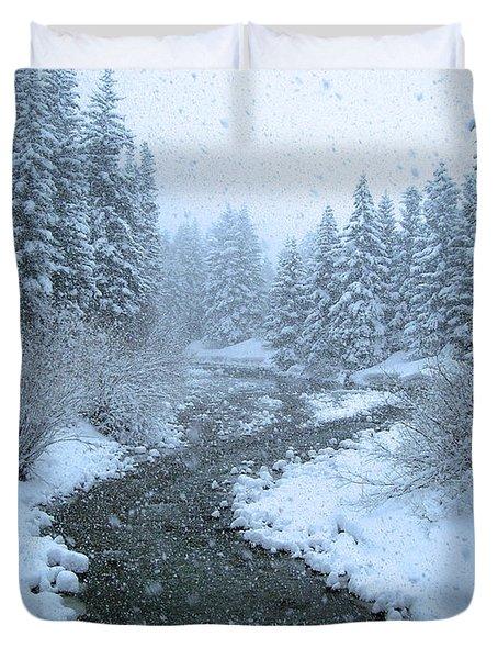 Winter Forest Duvet Cover by David Rucker