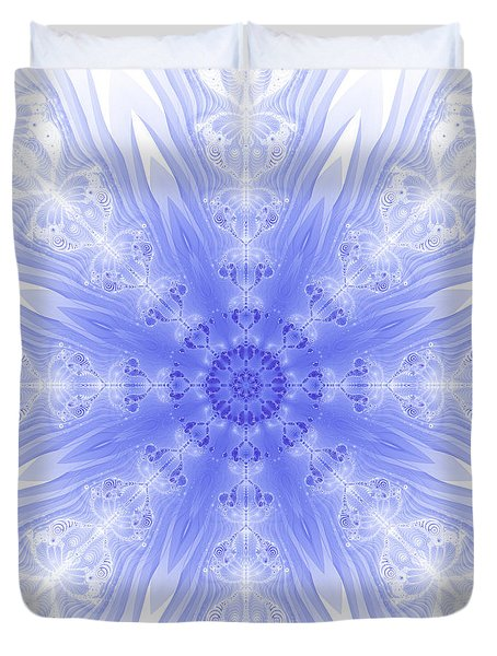 Winter Fractal Duvet Cover